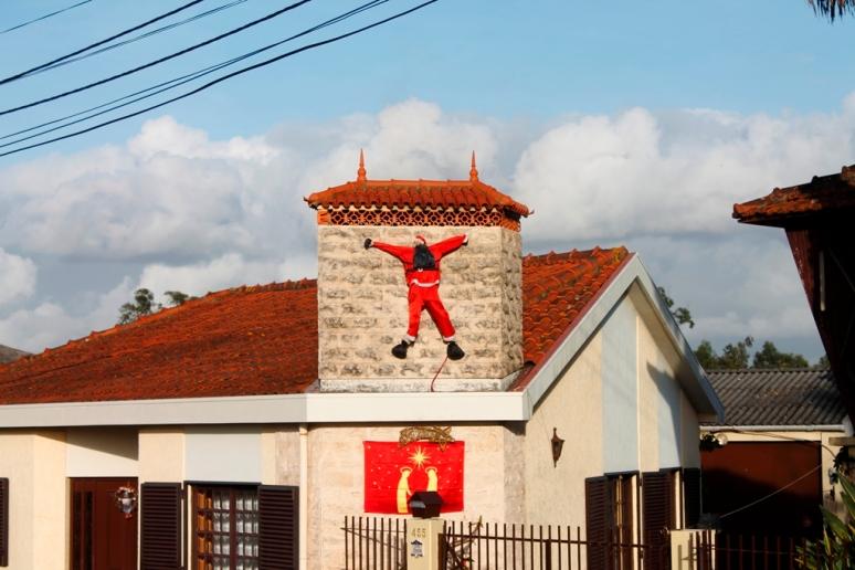 Santa Chimney Splat