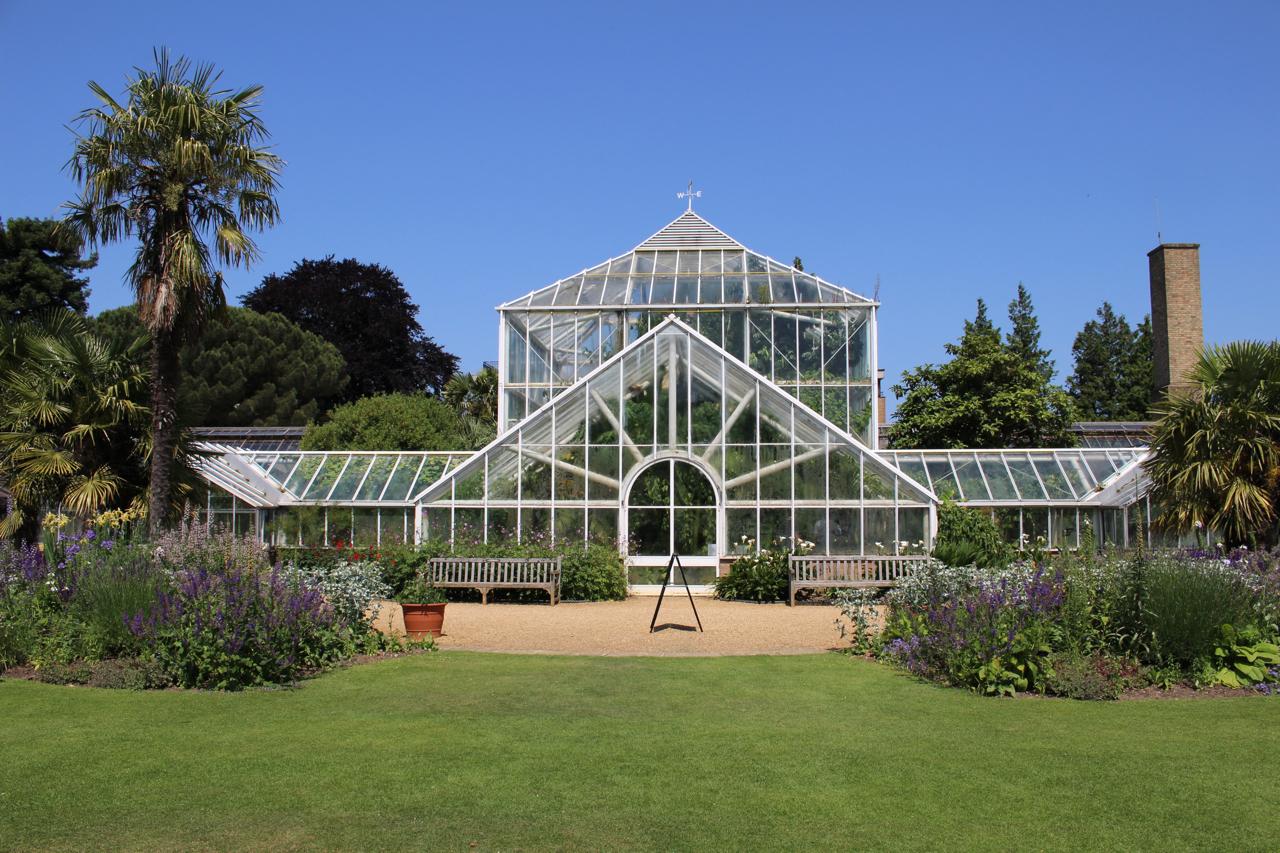 Cambridge Botanic Gardens The Glasshouses Oblique Exposure