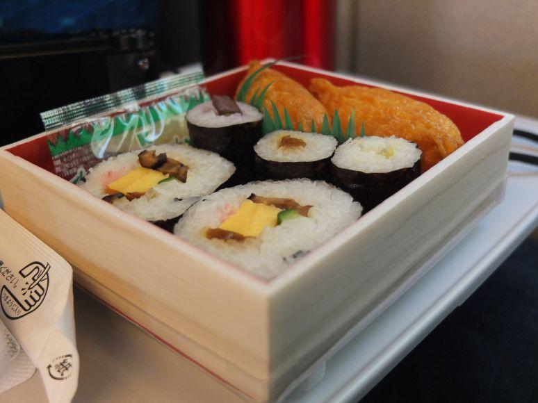 Bento box bullet train Japan